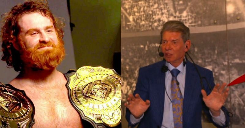 Sami Zayn and Vince McMahon.
