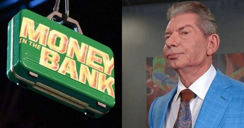 MITB briefcase and Vince McMahon.