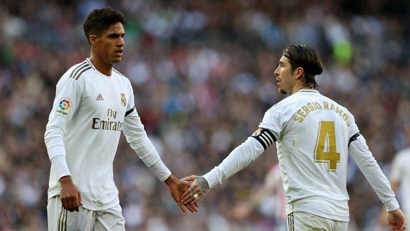 Real Madrid duo Raphael Varane and Sergio Ramos