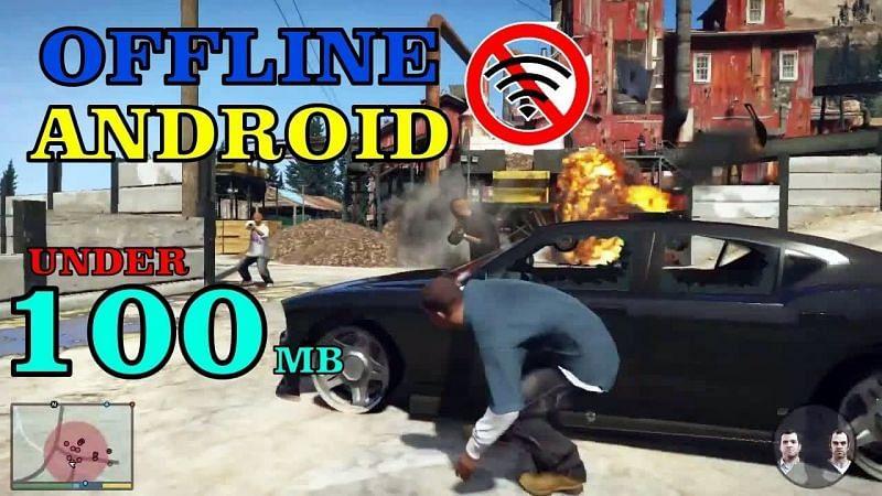 Best offline games like GTA under 100 MB. Image: GAMERZ KING (YouTube).