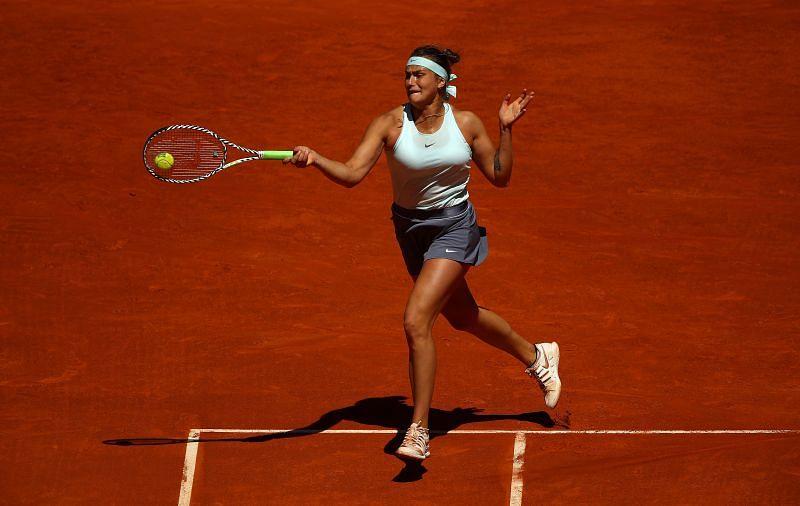 Aryna Sabalenka at the Mutua Madrid Open in 2019
