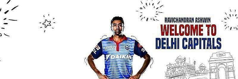 R Ashwin is likely to be a certainty in the Delhi Capitals playing XI[P/C:Delhi Capitals Twitter]