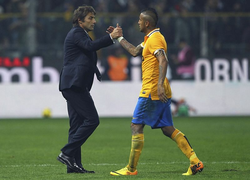 Conte and Vidal enjoyed a fruitful spell together at Juventus