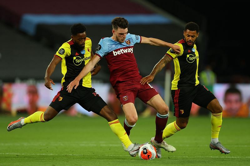 Declan Rice is highly rated at West Ham United