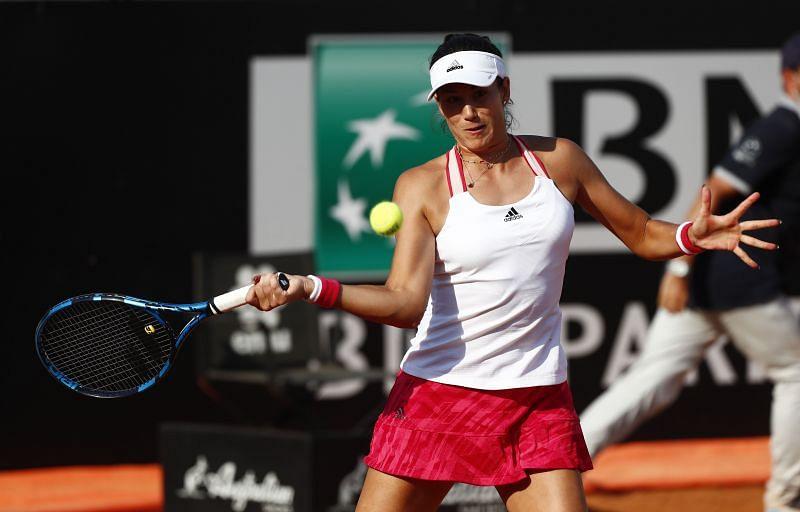 Garbine Muguruza during her win over Johanna Konta at the Italian Open in Rome