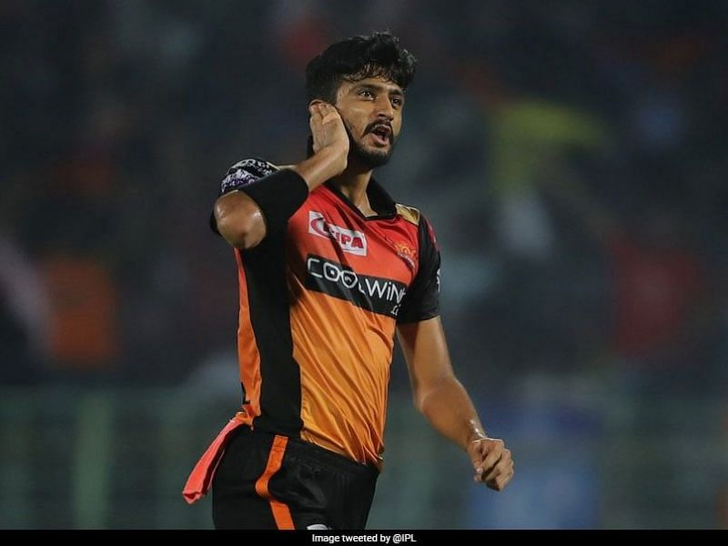 Khaleel Ahmed is the fastest bowler at SRH right now [PC: IPL Twitter]