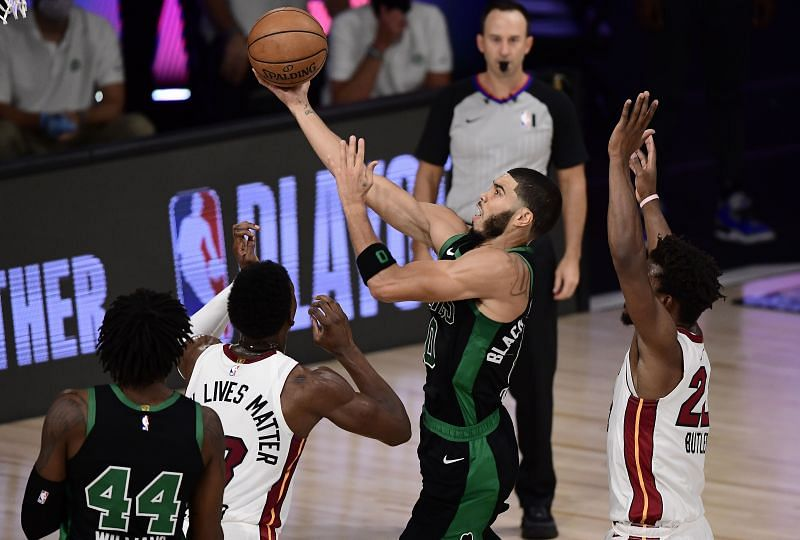 Tatum was unlucky to have his potential game-tying shot blocked.