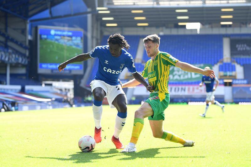 Moise Kean in action for Everton