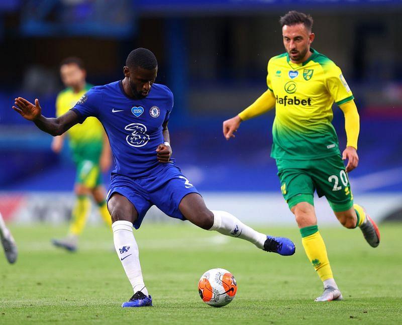 Rudiger in action for Chelsea