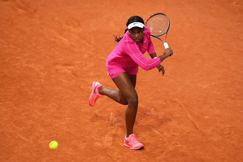 Sloane Stephens at the 2020 French Open