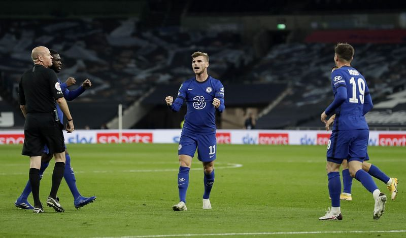 Timo Werner scored his first goal for Chelsea