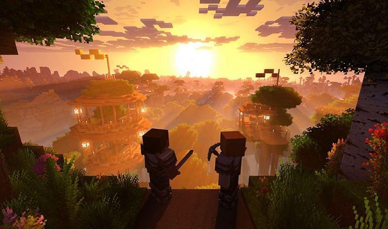 Pixelated graphics (Image credits: Minecraft.net)