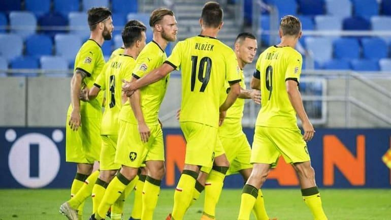 Czech Republic face Scotland in a Nations League fixture at the Andrův stadium on Monday.