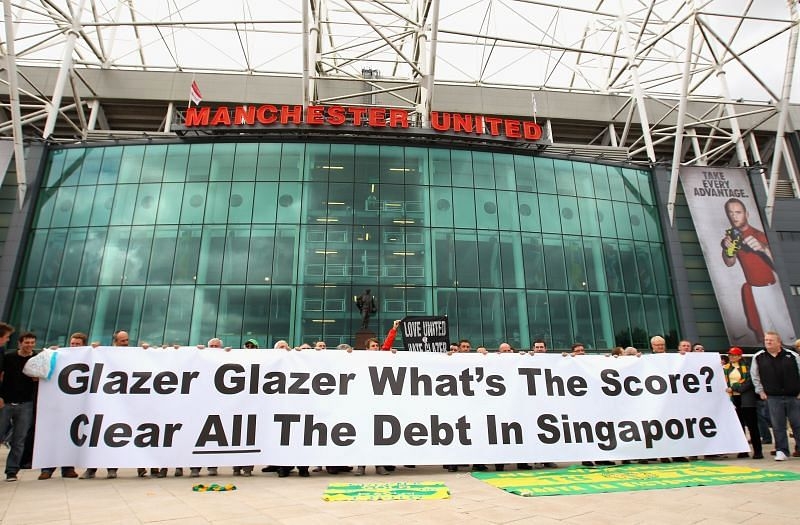 The Glazer ownership of Manchester United has provoked many protests over the years.