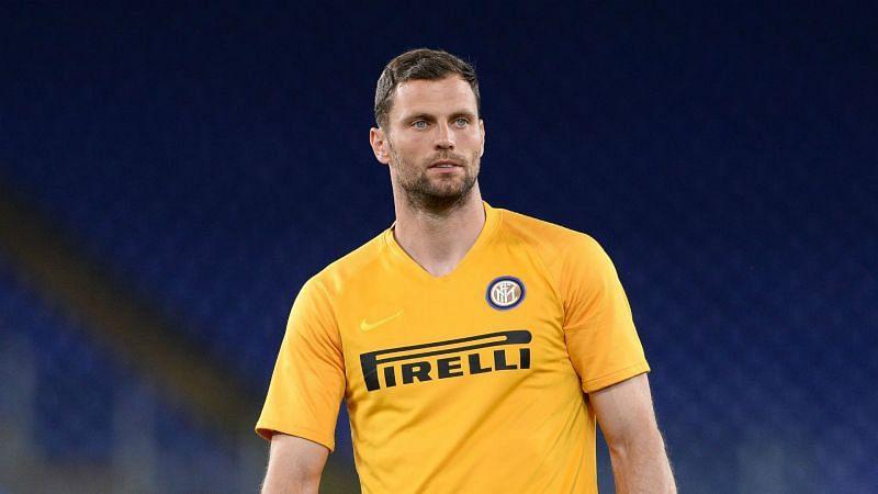 Inter goalkeeper Daniele Padelli