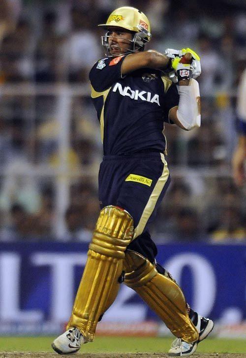 Cheteshwar Pujara batting for Kolkata Knight Riders