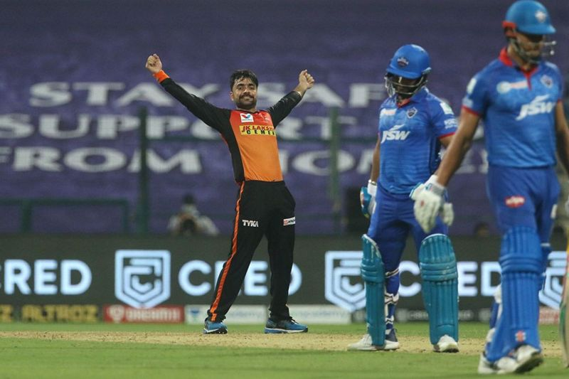 Rashid Khan got back into form with the best bowling figures of IPL 2020 so far (Image Credits: IPLT20.com)