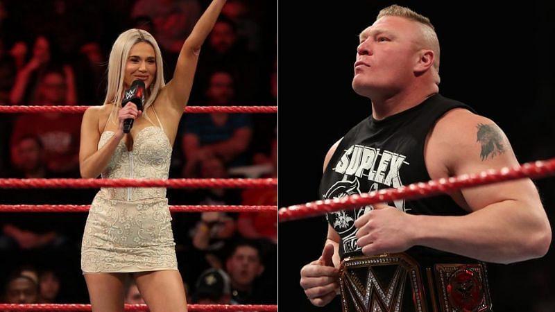 Lana and Brock Lesnar