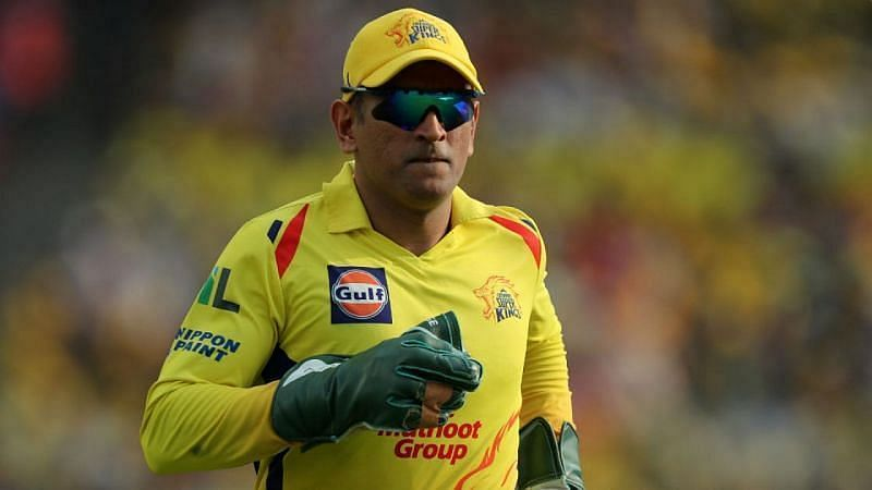 MS Dhoni was seen practising his wicket-keeping at the CSK nets in the UAE