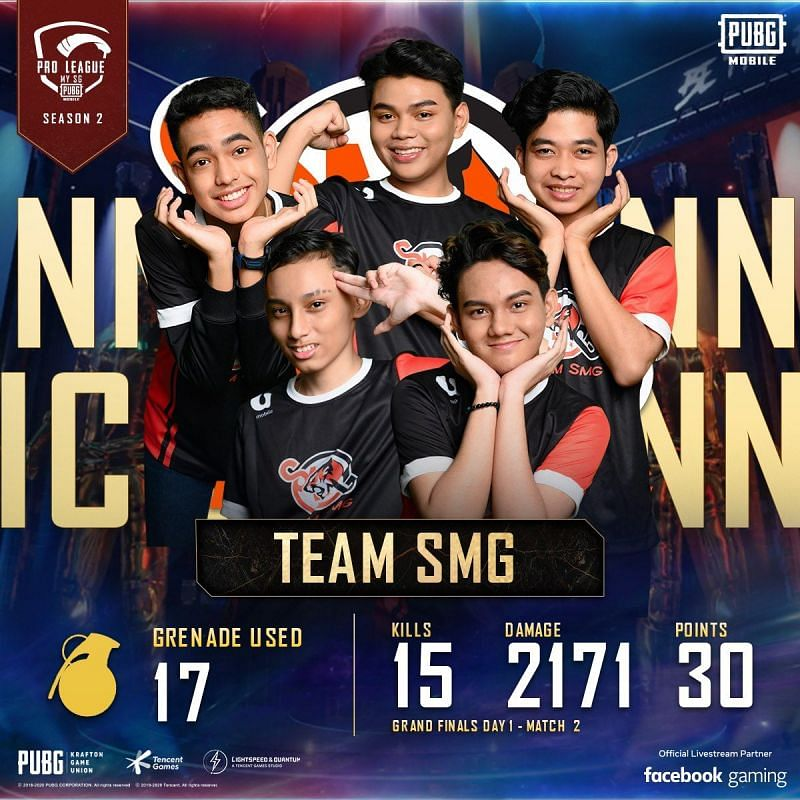Team SMG won two Chicken Dinners at the PMPL Season 2 MY/SG Day 1