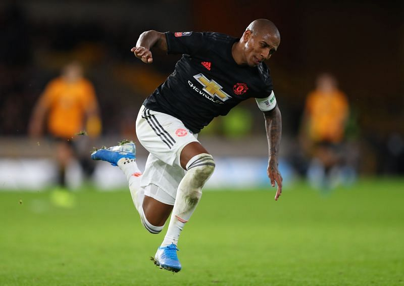 Ashley Young was the Manchester United captain during his time there