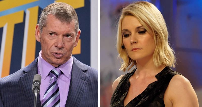 Vince McMahon and Renee Young