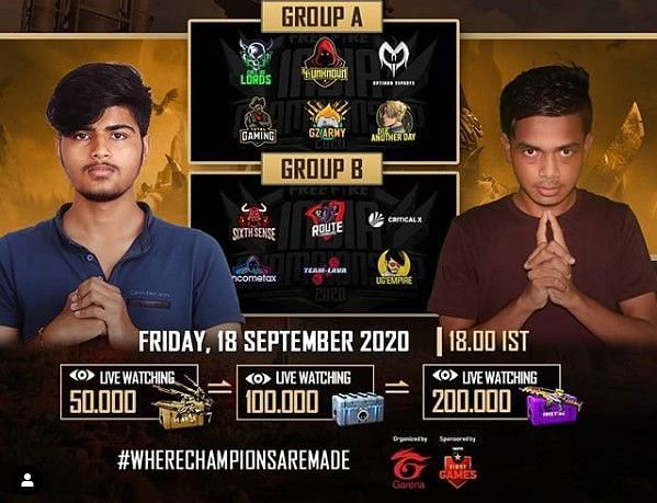 The Free Fire India Championship 2020 is underway (Image Credits: Free Fire Esports India / Instagram)
