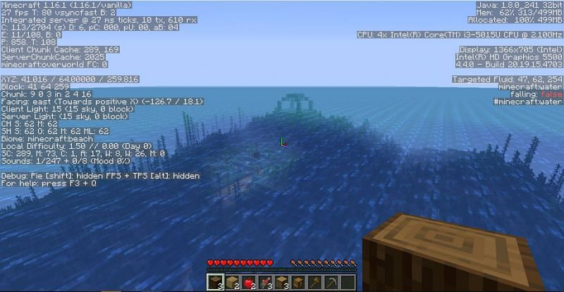 Survival Island with Ocean Monument (Image credits: Minecraft-seeds.com)