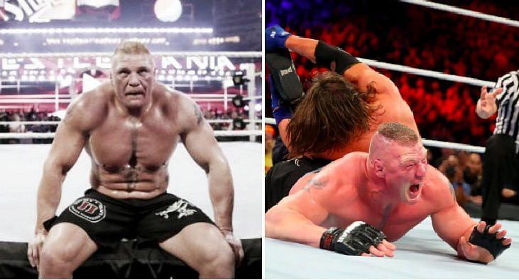 AJ Styles and Brock Lesnar