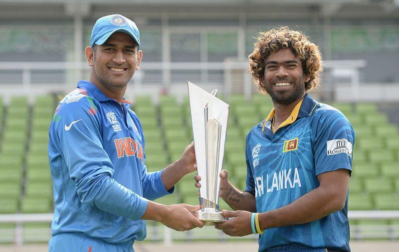 2014 टी20 वर्ल्ड कप फाइनल से पहले एम एस धोनी और लसिथ मलिंगा