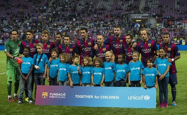 Barcelona have a long-standing association with UNICEF.