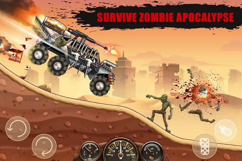 Zombie Hill Racing – Earn To Climb: Apocalypse. Image Credits: APKPure.com.