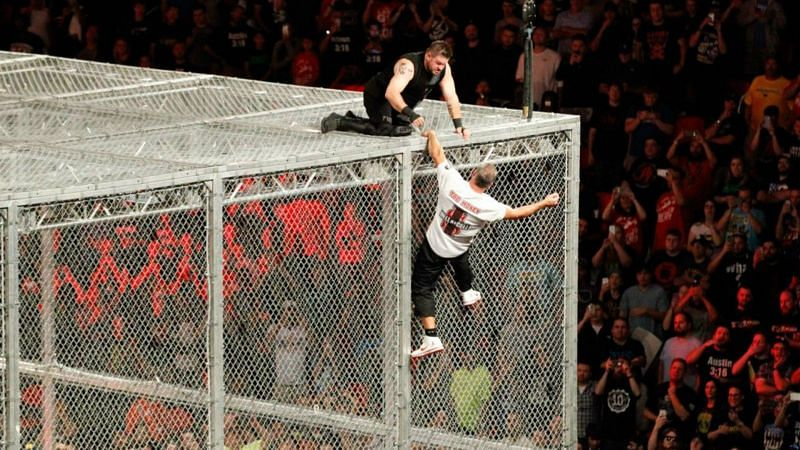 Shane McMahon vs Kevin Owens Hell in a Cell match