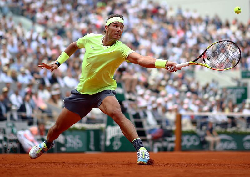 Rafael Nadal at the 2019 French Open