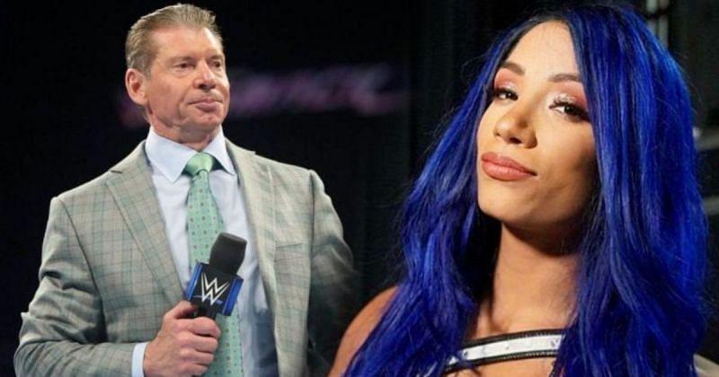 Vince McMahon and Sasha Banks