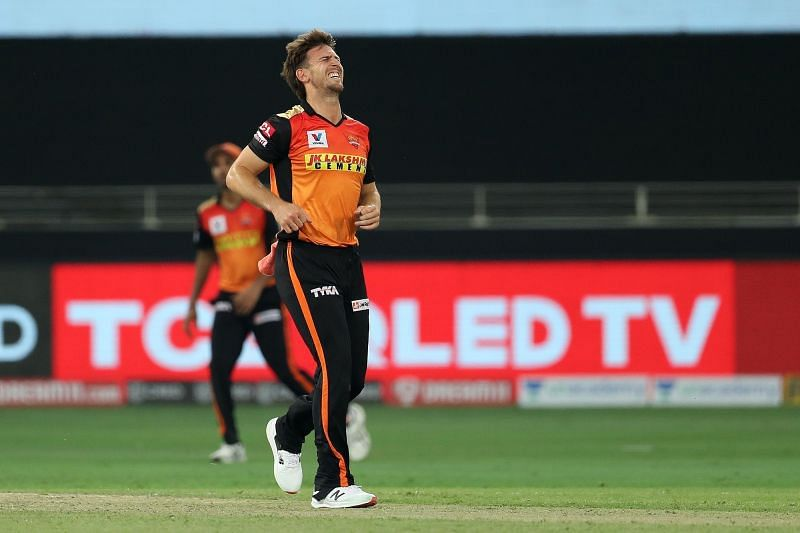 Mitch Marsh suffered a serious-looking ankle injury in his first IPL 2020 game