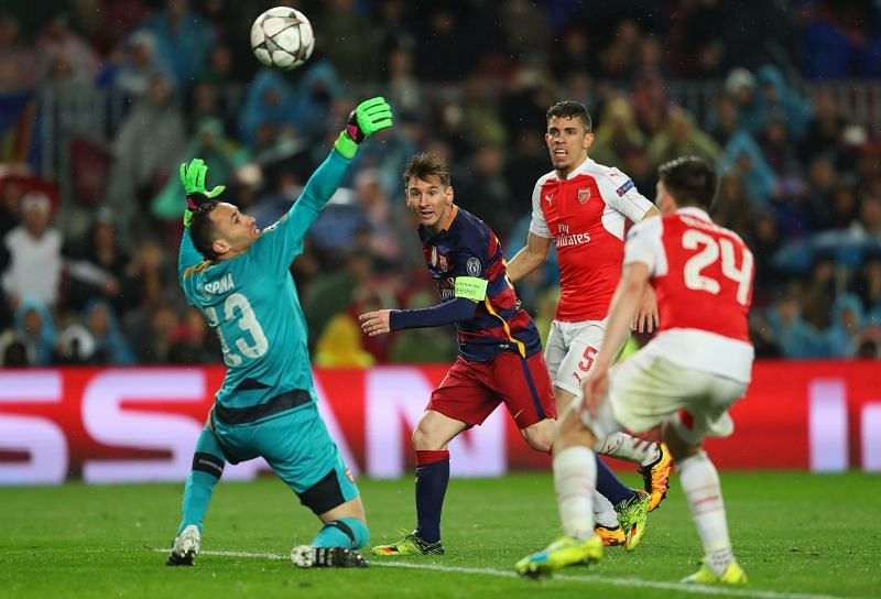 Lionel Messi has been excellent against Arsenal