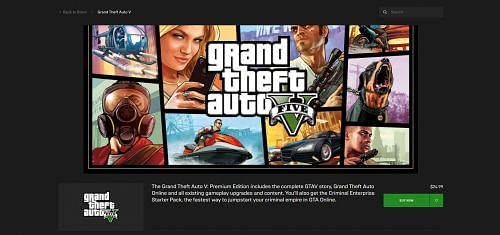 GTA Premium Online Edition on Epic Games Store