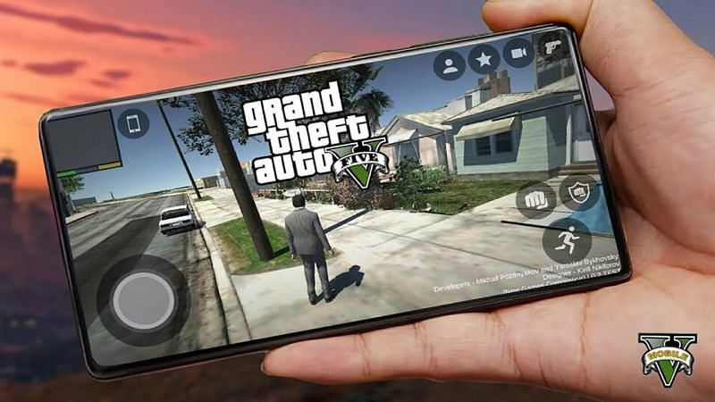 GTA 5 can be played on mobile phones using the Steam Link app