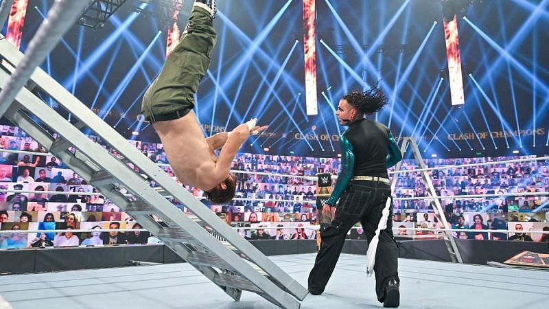 Sami Zayn took several nasty bumps during the WWE Clash of Champions Intercontinental Championship Ladder Match