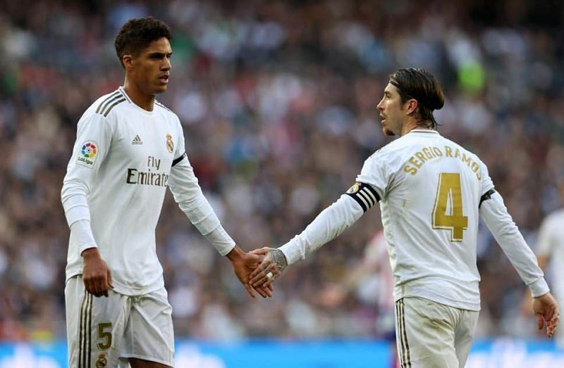 Raphael Varane (left) and Sergio Ramos (right) formed a formidable central defensive partnership for Real Madrid last season.