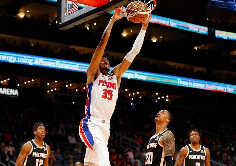 Christian Wood in action for Detroit Pistons