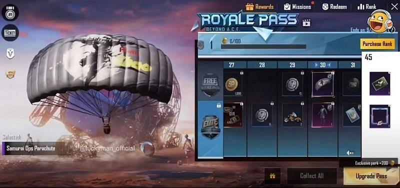 Samurai Ops Parachute (Image Credits: Luckyman / YouTube))