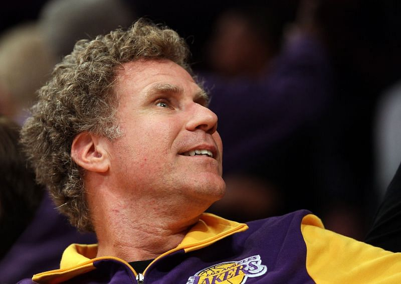 Will Ferrell at a LA Lakers game