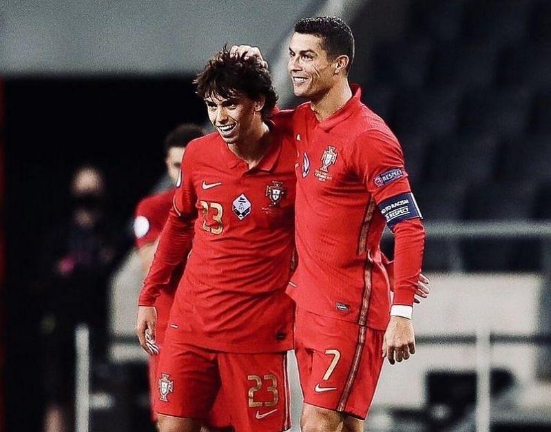After scoring against Croatia, Felix turned provider, assisting Ronaldo