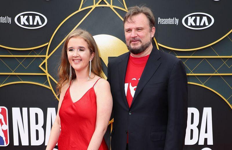 Houston Rockets GM Daryl Morey with wife Ellen