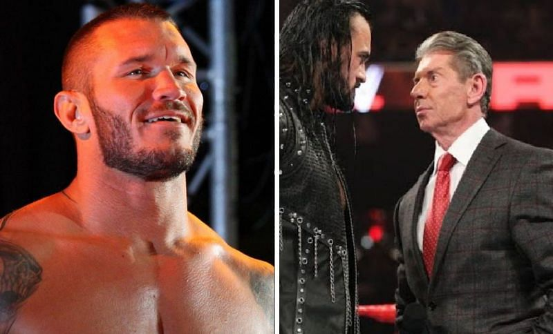 Randy Orton, Drew McIntyre, and Vince McMahon