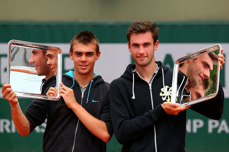 Benjamin Bonzi won the boys doubles at the French Open in 2014