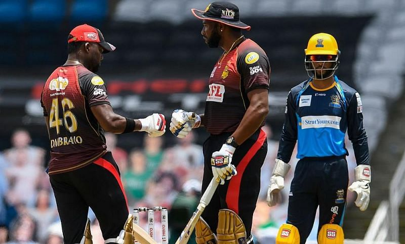 Darren Bravo (L) and Kieron Pollard (R) have been very consistent with their batting performances in the CPL