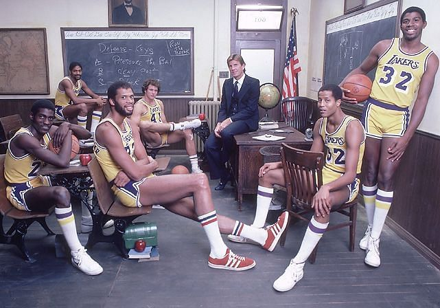 Paul Westhead with the 1981-82 LA Lakers [Credits: SI]